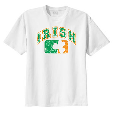 irish shamrock t shirt baseball logo t shirts funny t